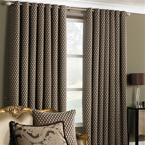 geometric pattern eyelet curtains paoletti de vere chenille jacquard woven lined eyelet