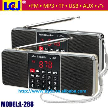 Portable Fm Radio Mp3 Player Loudspeaker L 288 L 288 Portable Mini Mp3 Player Fm Radio Speaker Buy L 288 Speaker Product On Alibaba