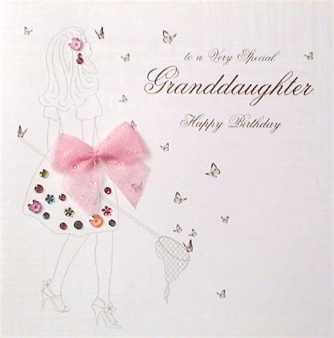 cards grandchildren with the words to a special granddaughter happy