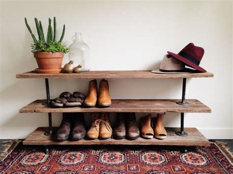 Console Table And Shoe Rack Reclaimed Barn Wood Industrial Pipe Console Table Shoe