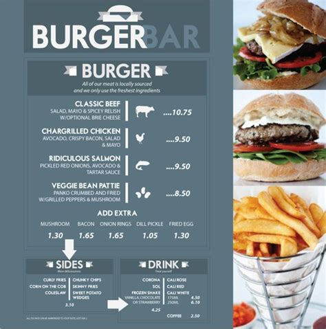 Top Bar Burger Menu by 59 Best Images About Menu Card Design On