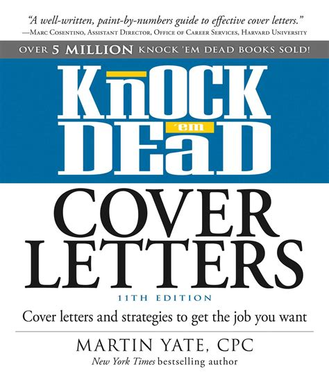 knock em dead cover letters book by martin yate