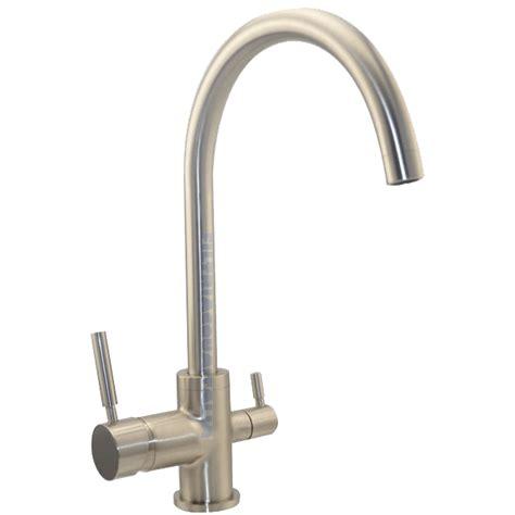 rubinetti acqua miscelatore tre vie satinato per depuratore acqua