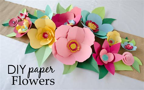 Flower Paper Craft Template - diy cut paper flowers project nursery