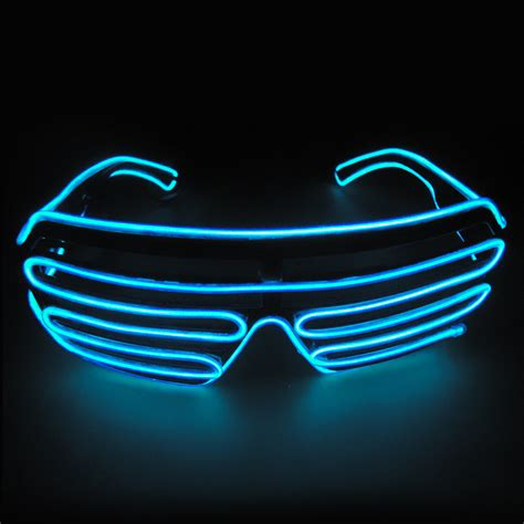 Neon Light El Wire el wire fashion neon led light up shutter shaped glasses costume ebay