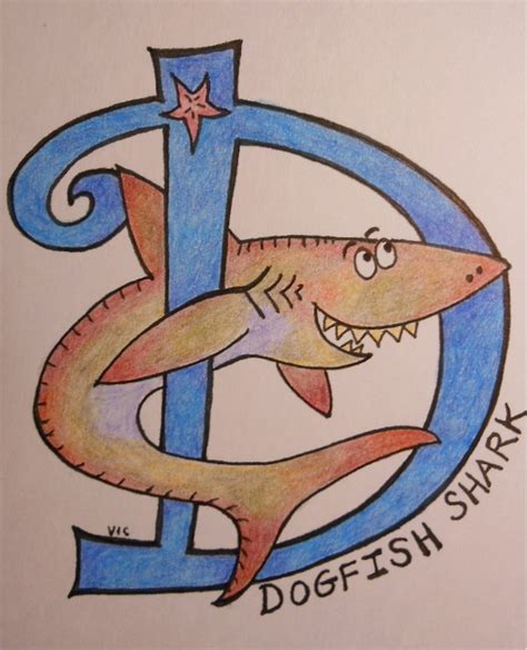 baby shark lyre letters silly alphabet art for baby sea animals d is for dogfish
