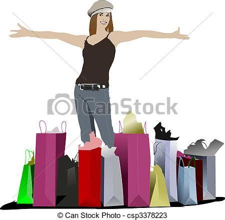imagenes vectores compras vectores de lindo compras coloreado ilustraci 243 n vector
