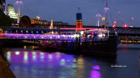 floating boat maidstone the tattershall castle embankment whitehall london