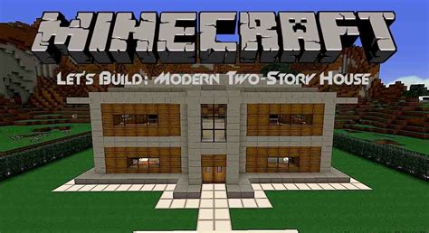 how to build a two story house let s build modern two story house in minecraft youtube