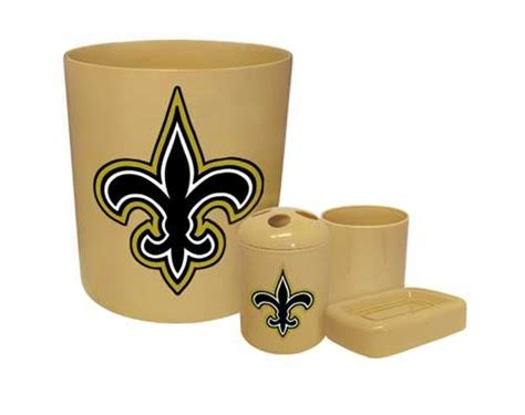 The Furniture Cove New 4 Piece Bathroom Accessories Set New Orleans Saints Bathroom Accessories