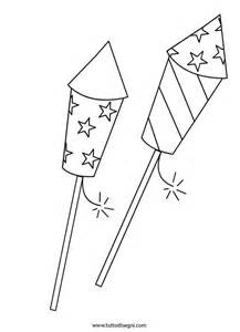 firework template fireworks coloring page american clipart