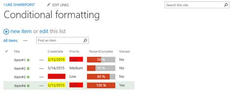 sharepoint choice indicator color code choices in list conditional formatting of listviews in sharepoint i