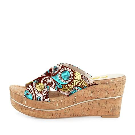 Sandal Wedges Blue Flower s blue floral print strappy wedge sandals for going out hanging out fsj