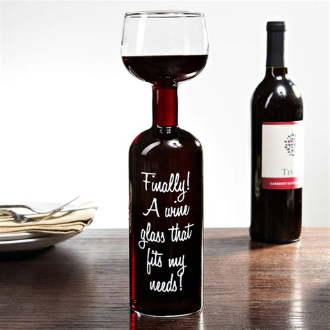 Cylinder Wine Glass Wine Bottle Glass Take The Entire Bottle With You The