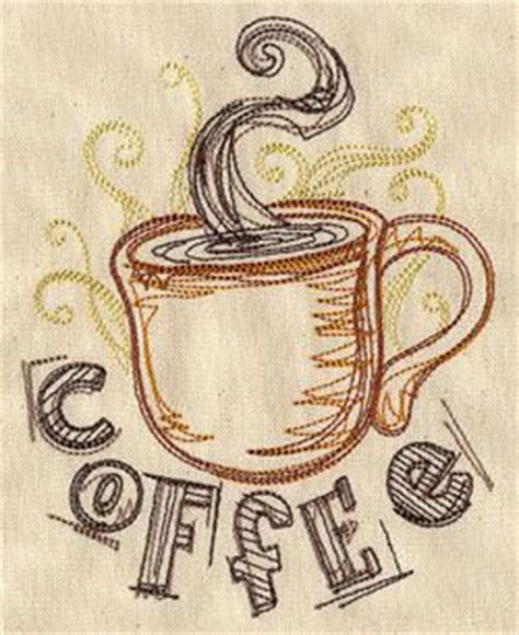 Embroidery Brown Coffee 37 best machine embroidery coffee images on