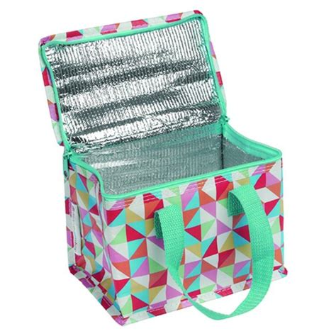 Thermal Lunch Bag multi coloured geometric thermal lunch bag by posh totty
