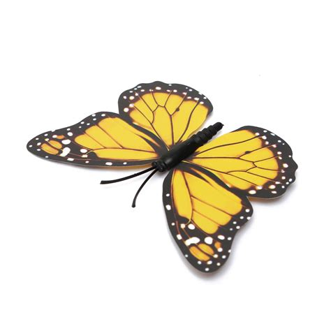 Stiker Dinding Butterfly 3d 12pcs 12pcs 3d stickers yellow butterfly wall decals home wedding decoration alex nld