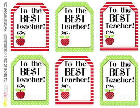printable teacher appreciation tags printable teacher appreciation gift tags the best teacher