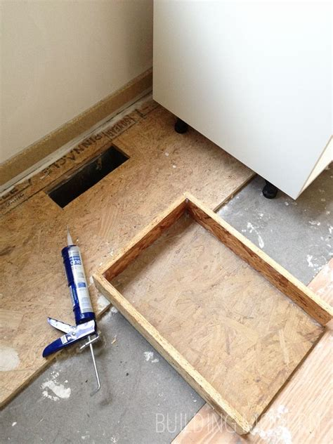 Ikea Toe Kicks Gap On Uneven Floor by Diy Redirecting A Vent Register A Kitchen Cabinet