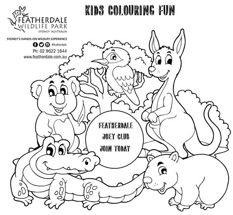 Colouring In Sheets Australian Animals Loading