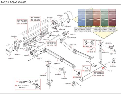 spare parts diagram fiamma f45 ti l polar white 450 550