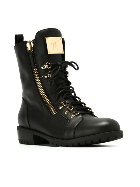 black lace up mens boots giuseppe zanotti lace up boots in black for lyst