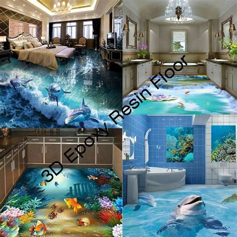 Scratch Resistant 3d Epoxy Resin Floor For Bathroom   Buy