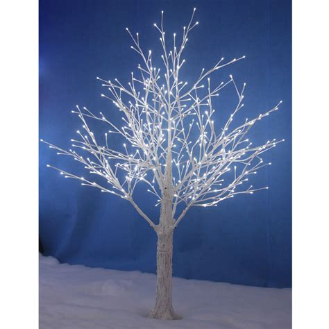how to a tree with lights outside white snowy twig tree white led lights indoor outdoor
