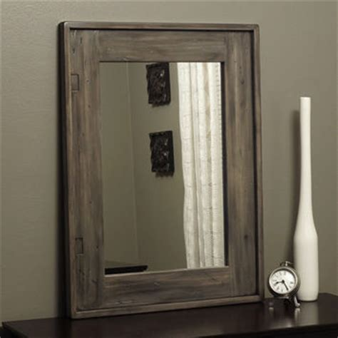 Distressed Wood Mirror Weathered Taupe Rustic Mirror Distressed Wood Weathered From Kennethdante