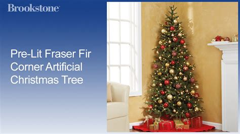 corner christmas tree pre lit fraser fir corner artificial tree