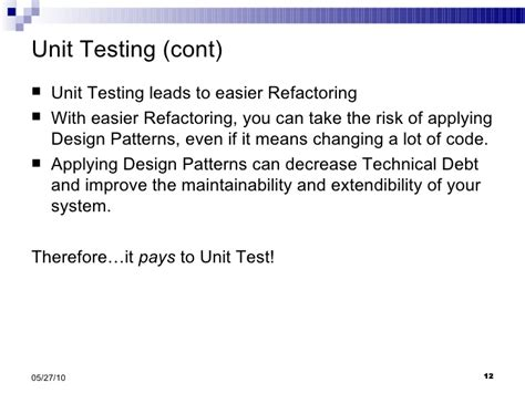 singleton pattern and unit testing introduction to design patterns and singleton