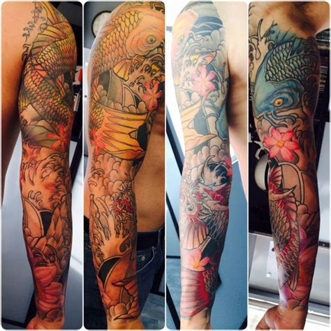 12 monkeys tattoo koi sleeve by nephtali quot lefty quot brugueras jr 12