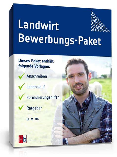 Bewerbung Deckblatt Landwirt Bewerbungs Paket Landwirt Muster Zum