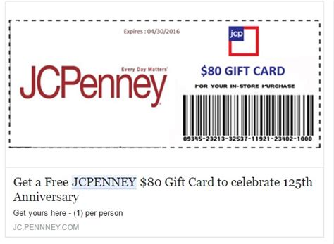 Gift Cards Coupon Code 2017 - jcpenney coupons 100 coupon 80 gift card offers on facebook are scams