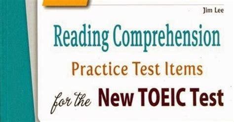 reading comprehension test toeic ebook jim s toeic reading comprehension practice test