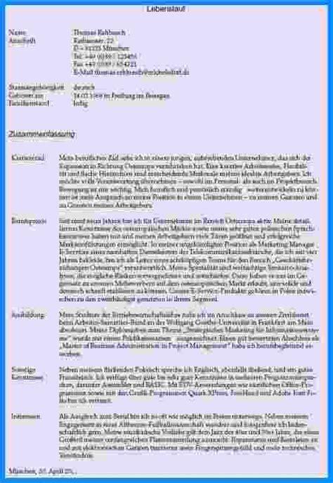Lebenslauf Muster In Textform 6 Schriftlicher Lebenslauf Business Template
