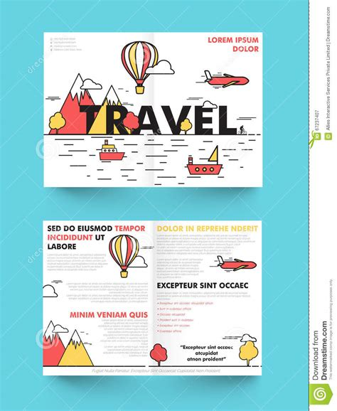 tour brochure template travel brochure template or flyer design stock