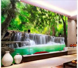 Photo Wall Murals Wallpaper customized 3d photo wallpaper 3d wall murals wallpaper jungle river