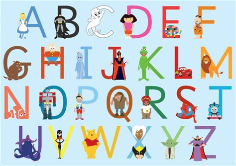 Character With Letter K A3 Children S Character Alphabet Free Early Years