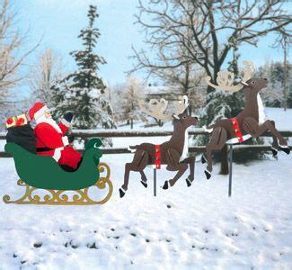 large sleigh santa reindeer pattern set christmas
