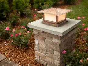Patio Pillar Lights Front Porch Pillar Ideas On Front Porches Columns And Craftsman