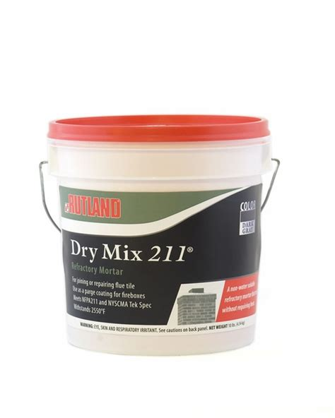 Fireplace Mortar Mix by Rutland Refractory Mortar Mix 10 Pound Tub