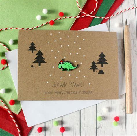 dinosaur card rawr means merry christmas  dinosaur   silverleaf notonthehighstreetcom