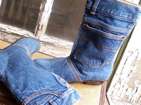 vintage denim bootswomen s size 7 5hipster shoes
