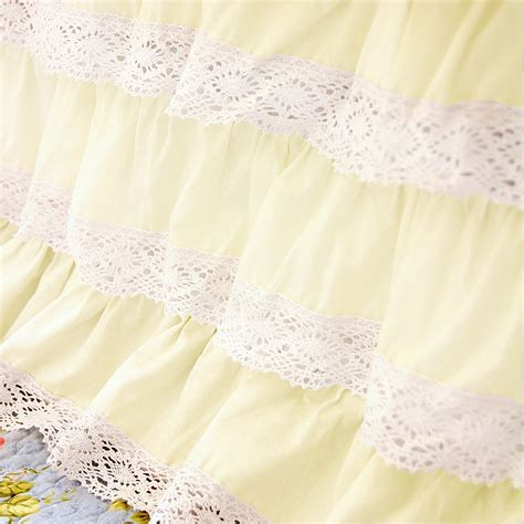 light green bed skirt lace bed skirt