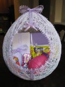 How To Make An Easter Egg Out Of Paper - make an egg shaped easter basket from string hmh designs