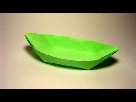 origami boat canoe origami boat canoe youtube