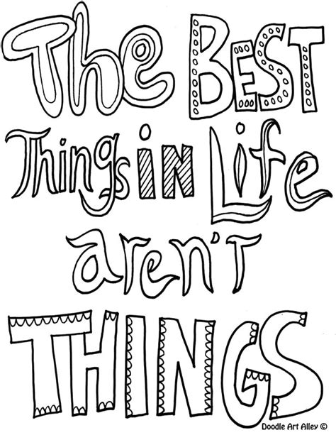 coloring pages with quotes quote coloring pages doodle alley