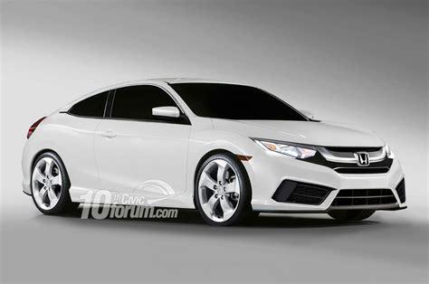 hatchback coupe 2016 honda civic sedan coupe hatchback renders leaked