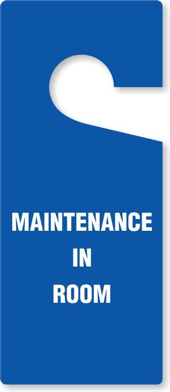 maintenance door hanger template maintenance in room door hanger best prices ships fast